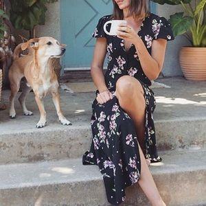 Zara Maxi Buttoned Floral Dress